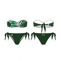 Pánt nélküli bikini-Leaf