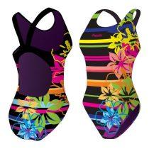 Lányka vastag pántos úszódressz-Colorful Flowers