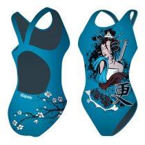 Lányka vastag pántos úszódressz - Geisha