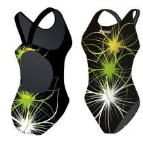Lányka vastag pántos úszódressz-Neonflower-7