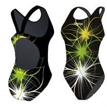 Lányka vastag pántos úszódressz - Neonflower - 7