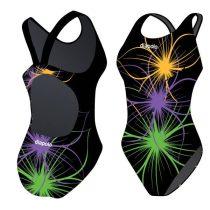 Lányka vastag pántos úszódressz-Neonflower-12