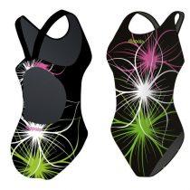 Lányka vastag pántos úszódressz-Neonflower-8