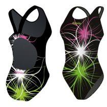 Lányka vastag pántos úszódressz - Neonflower - 8