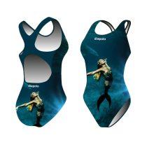 Lányka vastag pántos úszódressz-Sync mermaid