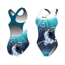 Lányka vastag pántos úszódressz - Sync ballerina