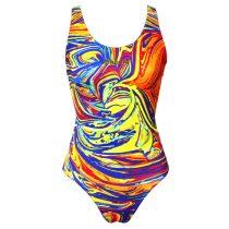 Lányka vastag pántos úszódressz - Colorful - 1