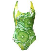 Lányka vastag pántos úszódressz-Lemon lime fruit