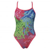 Lányka vékony pántos úszódressz-Colorful-2