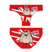 Férfi vízilabdás úszó-Bulldog-1-piros