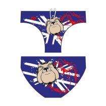 Férfi vízilabdás úszó-Bulldog-2-kék