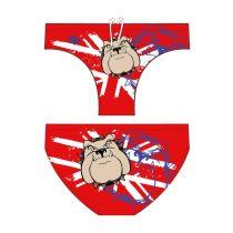 Férfi vízilabdás úszó-Bulldog-2-piros