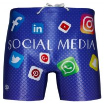 Férfi közép hosszú boxer-Social Media