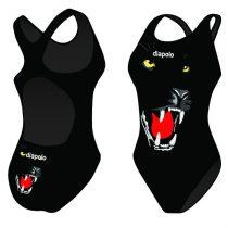 Női vastag pántos úszódressz-Panther