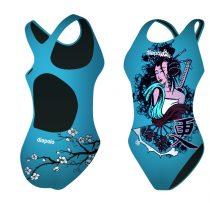 Női vastag pántos úszódressz-Geisha