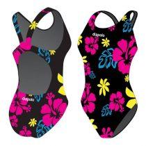Női vastag pántos úszódressz-Hawaii