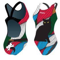Női vastag pántos úszódressz-Kitty-1