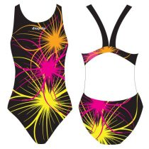 Női vastag pántos úszódressz-Neonflower-2