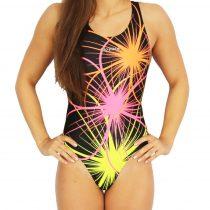 Női vastag pántos úszódressz-Neonflower-1