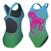 Női vastag pántos úszódressz-Octopus