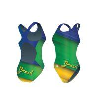 Női vastag pántos úszódressz-Brazil-1