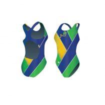 Női vastag pántos úszódressz-Brazil-2