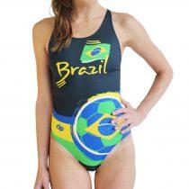 Női vastag pántos úszódressz-Brazil-3