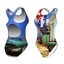 Női vastag pántos úszódressz - Classical - Cuba