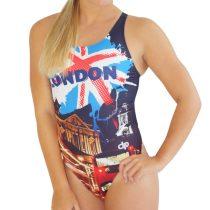 Női vastag pántos úszódressz - London - 1