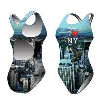 Női vastag pántos úszódressz - New York