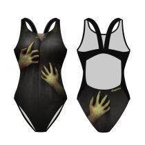 Női vastag pántos úszódressz - Zombie