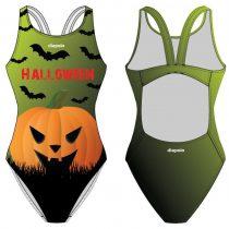 Női vastag pántos úszódressz-Halloween pumpkin