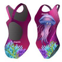 Női vastag pántos úszódressz-Jellyfish