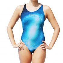 Női vastag pántos úszódressz-Galaxy