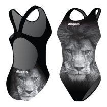 Női vastag pántos úszódressz-Gray Lion