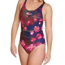 Női vastag pántos úszódressz-Blossom Flower