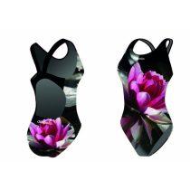 Női vastag pántos úszódressz-Water Lily