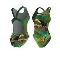 Női vastag pántos úszódressz-Tucan