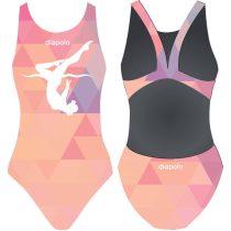 Női vastag pántos úszódressz-Triangle girl