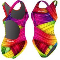 Női vastag pántos úszódressz-Rainbow Flesh