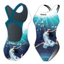 Női vastag pántos úszódressz-Sync ballerina
