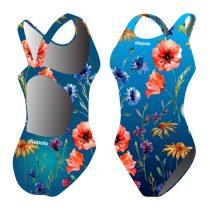 Női vastag pántos úszódressz-Poppy