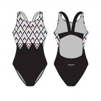 Női vastag pántos úszódressz-Pine