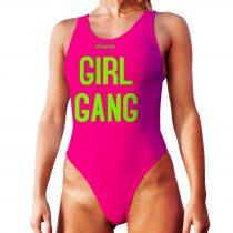 Női vastag pántos úszódressz-Girl Gang