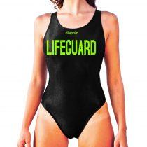 Női vastag pántos úszódressz-Lifeguard