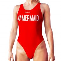 Női vastag pántos úszódressz-Mermaid