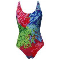 Női vastag pántos úszódressz-Colorful-2
