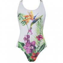 Női vastag pántos úszódressz-Orchid