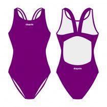 Női vastag pántos úszódressz-lila Classic