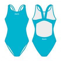 Női vastag pántos úszódressz-Classic-világoskék